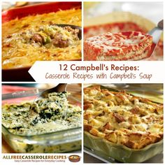 12 Campbell's Recipes: Casserole Recipes with Campbell's Soup | These easy dinner recipes make for such great weeknight meals!