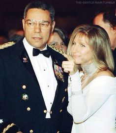 BARBARA STREISAND AND COLIN POWELL