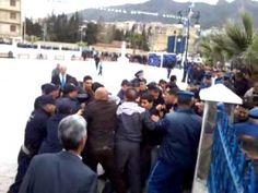 Meeting de Sellal à Béjaïa: des jeunes manifestent contre le quatrième m...