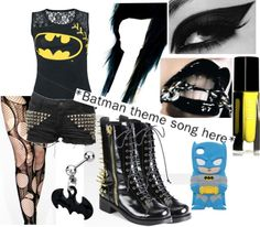 """""""*Batman Theme Song Here.*"""" by bethalu ❤ liked on Polyvore"""