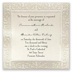 Filigree - Invitation | Invitations By David's Bridal