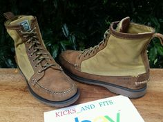 Sebago x Filson Kettle Boots Hiking Trail Waxed Cotton Leather Men's Sz 9.5 #Filson #HikingTrail
