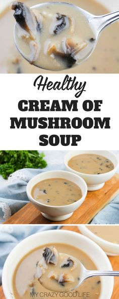 Sometimes creamy soups can be very unhealthy. This healthy cream of mushroom soup is going to change all of that! You can whip this up at home for a tasty alternative to the canned stuff.#recipes #healthyrecipes #soup
