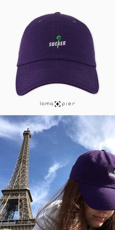 SUCKER icon hat by loma+pier hat store Hat Stores, Hat Shop, Suckers, Dad Hats, Baseball Hats, Dads, Crochet Hats, Cotton, Baseball Caps