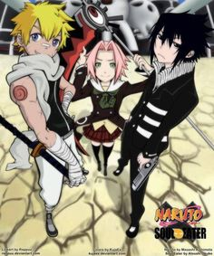 naruto/soul eater crossover. This almost makes me a Sasuke fangirl