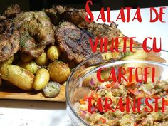 Salata de vinete greceasca si cartofi taranesti cu carne la cuptor. O bestialitate de mancare. - YouTube Greek Recipes, Meat, Youtube, Pork, Salads, Greek Food Recipes