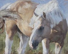 oil by Jill Soukup --she does the best paintings of horses ever