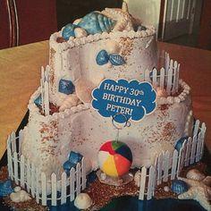 Sea shore theme cake