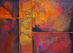 "CAROL NELSON FINE ART BLOG-Mixed Media Abstract Painting, ""Ticket to Ride"" © Carol Nelson Fine Art"