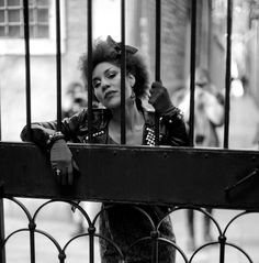 #joyvilla in #venice by #leica #photographer #thorstenovergaard #model #leather #fashion #afro #rock #punk @joyvilla