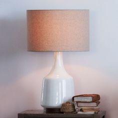 Morten Table Lamp - White   west elm - reception
