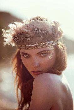 Gorgeous makeup & styling - perfect for Coachella! (portrait, photo, beauty shot)
