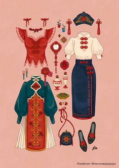 VK is the largest European social network with more than 100 million active users. Vintage Fashion Sketches, Fashion Design Drawings, Anime Outfits, Cool Outfits, Character Outfits, Designs To Draw, Costume Design, Fashion Art, China Fashion