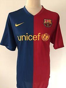 BARCELONA Home Football Shirt 2008-2009 NIKE Size XXL 2XL | eBay