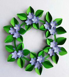 DIY Flowerwreath designed by Gitte Schou Hansen Paper Flowers Craft, Giant Paper Flowers, Diy Crafts For Gifts, Creative Crafts, Newspaper Crafts, Creative Embroidery, Art N Craft, Kirigami, Spring Crafts