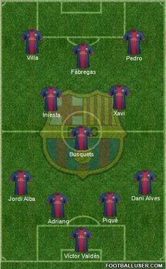 Barcelona official line up against PSG!  Vamos Barca!