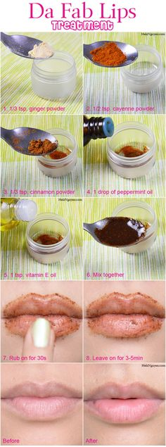Da Fab Lips Treatment, How To Plump Your Lips Tutorial DIY Recipe #beauty #skincare