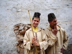 Young men dressed with traditional costumes in Casablanca, Morocco by decar66
