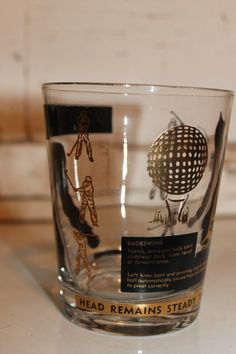 Vintage Golf Old Fashioned Glasses Black and by SouthernVintageGa, $25.00