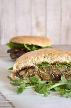 Sandwich de Berenjena y Mermelada de Higos Jam Sandwich Recipes, Brunch, Fig Jam, Eggplant Recipes, Wraps, Vegetable Recipes, Veggie Food, Vegan Vegetarian, Good Food