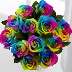 Rainbow Roses my new favorite flower! ♥ these