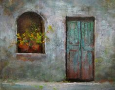 'Old Door', original painting by artist Justin Clements | DailyPainters.com