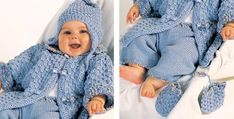 Viola Set in Adriafil Merino Baby Knitting Patterns, Baby Patterns, Free Knitting, Crochet Patterns, Kids Knitting, Beginner Knitting Projects, Knitting For Beginners, Baby Warmer, Baby Cardigan