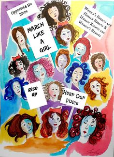 #Resistance #womensmarch Watercolor Painting  Day 4 of 30 Warrior Women in 30 Days series