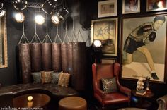 a wall of antique leather boxing gloves - Google Search