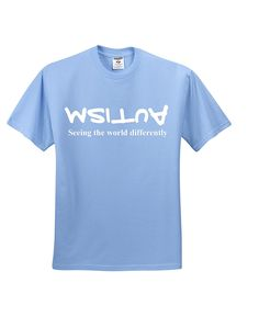 AmazonSmile: Autism Awareness Seeing the World Differently (Unisex) (XXL, Light Blue): Clothing
