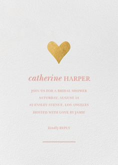 Luminous Heart by Sugar Paper for Paperless Post.  Create beautiful bridal shower invitations with our easy-to-use design tools and RSVP tracking. Available online or on paper. View more wedding-related invitations on paperlesspost.com.
