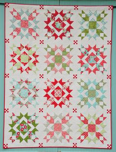 Refresh Pattern - Christmas Quilt for me someday.