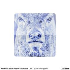 Abstract Blue Deer Checkbook Cover