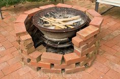 >> I like this Hometalk :: Examine Out This Hearth Pit Made With Free Bricks and an Previous Chimenea!...