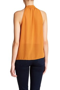 Sleeveless Tie Front Blouse (Juniors)