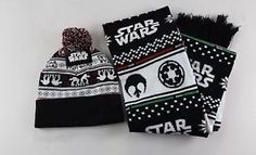 Loot-Crate-Star-Wars-Limited-Edition-AT-AT-Beanie-Hat-Jacquard-Knit-Scarf-NEW