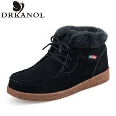 Genuine Leather Women Boots 2016 Autumn Winter Warm Woman Snow Boots Lace-Up Slip On Fur Womens Casual Ankle Cotton Boots A&5556♦️ SMS - F A S H I O N 💢👉🏿 http://www.sms.hr/products/genuine-leather-women-boots-2016-autumn-winter-warm-woman-snow-boots-lace-up-slip-on-fur-womens-casual-ankle-cotton-boots-a5556/ US $23.89