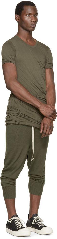 Rick Owens Green Drawstring Lounge Pants