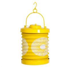 Photophore lampion accordéon jaune