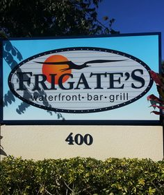 FRIGATE'S WATERFRONT BAR & GRILL - The Frigate bird is legendary to sport fishermen and it's presence is an indicator to a bountiful catch, good times and success. #frigates #frigatesnorthpalmbeach #northpalmbeach