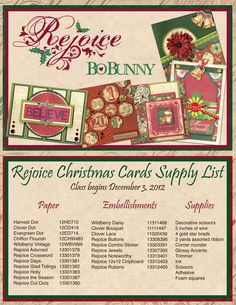 New blog class starts today! Finish 6 cards before Christmas! #bobunny