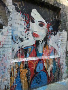 LOCATION:   Blender Lane Artist's Markets (wall) /Melbourne, Australia