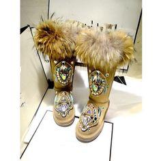 Women's Fashion Fox Fur Winter Thicken Warm Knee Snow Boots rhinestone Shoes New Punk Shoes, Rhinestone Shoes, Fox Fur, Snow Boots, Captain Hat, Warm, Winter, Womens Fashion, Casual