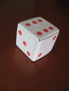 Dados de Origami Imprimibles Origami, Dice, Poker, Puzzles, Container, Games, Rainbows, Home Made, Board Games