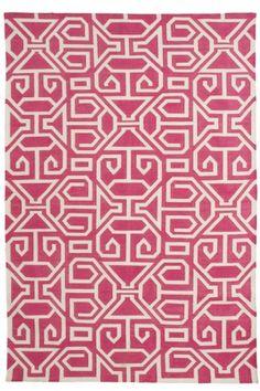 lovely pink geometric rug