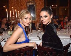 Gigi and Kendall Balmain Post After Show Dinner Paris 2015