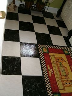 Black and White Peel and Stick Tiles | Southern Hospitality
