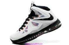 Lebron 10 Lebron James Shoes 2013 White Black 541100 003