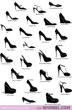 Cheat Sheet: Names for All The Types of Lady Shoes…