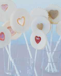 Sweetheart Pops Valentine's Day Gifts | Martha Stewart Living — You'll surely win hearts with these confectionery valentines: sugar-cookie lollipops embedded with candy hearts or layered into frosted sandwiches.